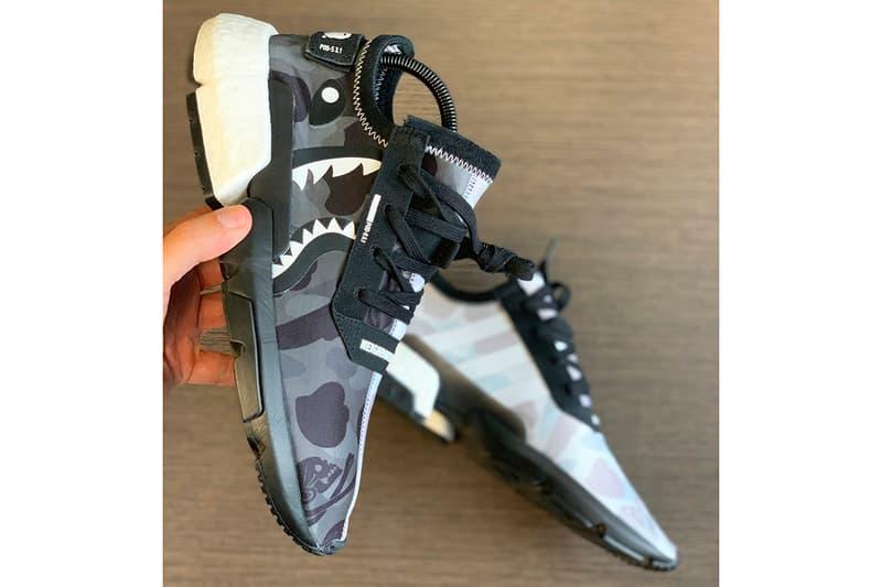 BAPE x NEIGHBORDHOOD x adidas POD-S3.1 Closer Look Shoes Trainers Kicks Sneakers Footwear Collab Collaboration Collaborative Shoe Cop Purchase Buy Yankeekicks