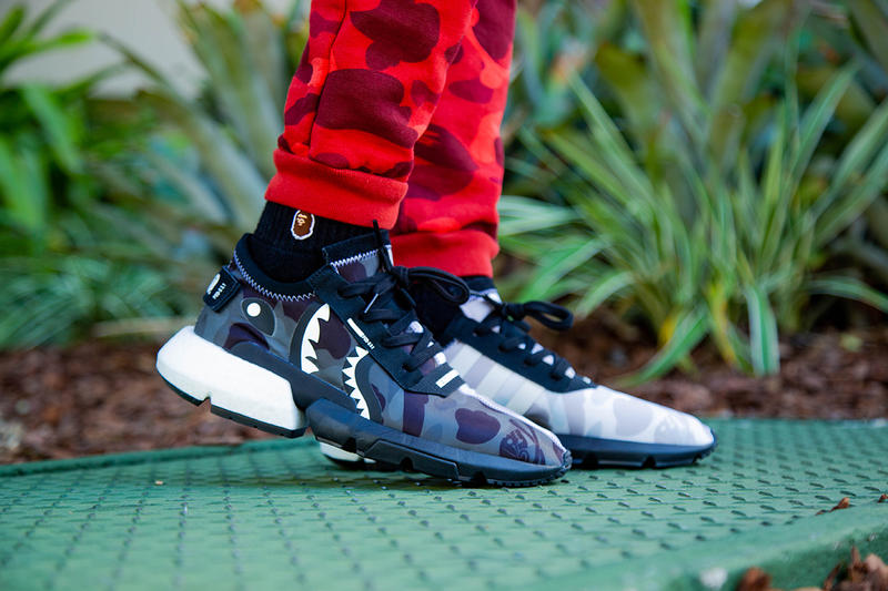 BAPE NEIGHBORHOOD adidas POD S3 1 s31 s 3 1 s 31 On Foot look sneaker collab collaboration shoe drop release date info