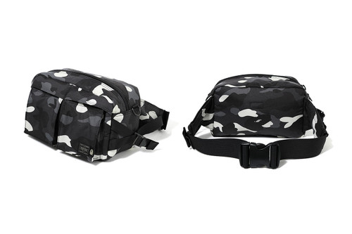 BAPE   PORTER Link for Glow-In-The-Dark Camouflage Bag a43140ec30ffe