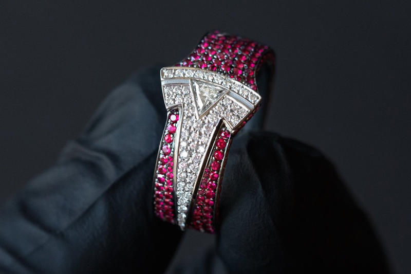 Ben Baller Custom Tesla Ring for Elon Musk 1 of 1 diamonds ruby rubies automotive