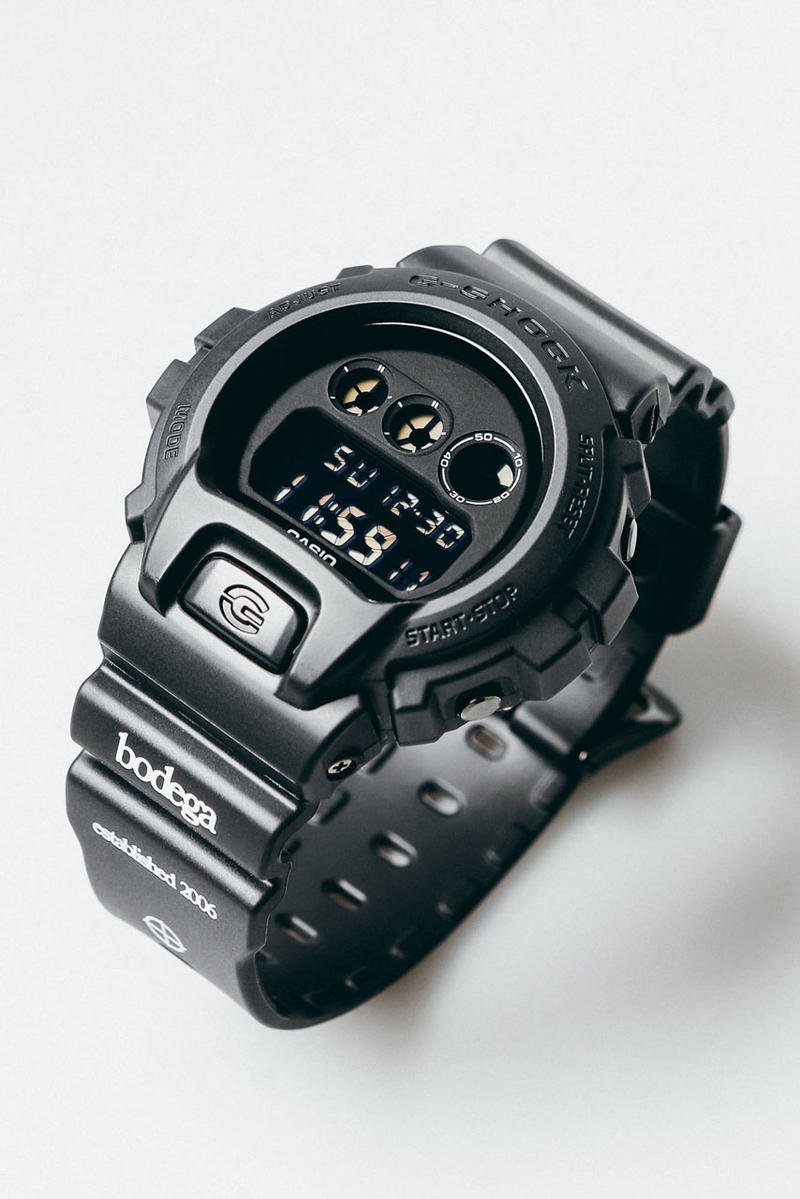 Bodega x Casio G-SHOCK DW-6900 Watch Collab drop release date info december 20 2018 exclusive black alphabet soup can package case 35th anniversary