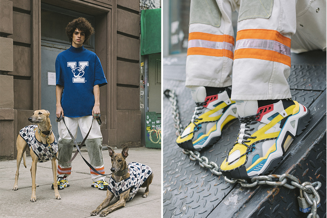 CALVIN KLEIN 205W39NYC Pre-Spring 2019 Sneakers Lookbook Video Strike 205 Carlos 10 Cander 7 yellow white red grey blue black baseball basketball chunky