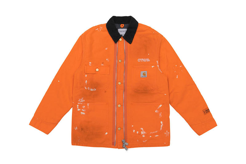 Carhartt WIP Heron Preston FW18 Capsule Release info date Tree camo pouch pants t shirt long short sleeve beanie hat chore jacket Hong Kong Japan CHERRY GR8 NUBIAN REVOLUTION