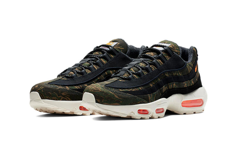 new product 7bbc5 c8023 Carhartt WIP Nike Air Max 95 Official Imagery release date drop info  camouflage tiger ripstop colorway