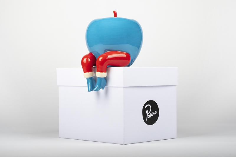 case studyo parra an apple on the edge limited edition sculpture collectible figure artwork