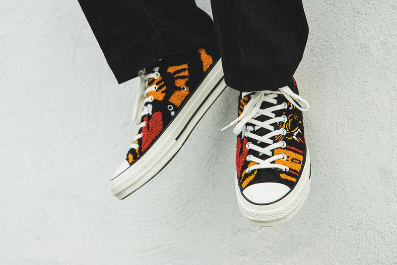 19d3c44d9eff Undefeated x Converse Chuck 70 OX On-Foot Look First Closer Look HBX Collab  Collaboration