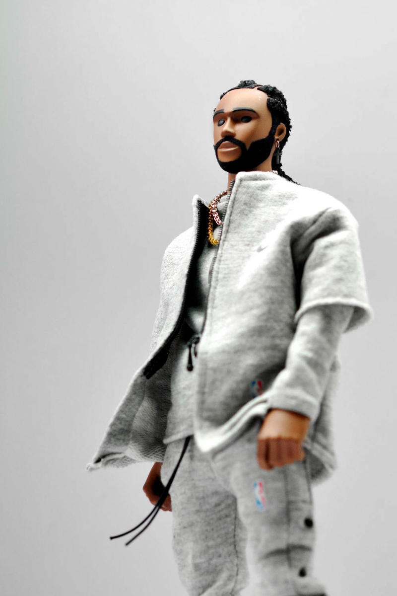 Coolrain Lee Jerry Lorenzo Nike Fear of God fog figurine action figure lil jerry air fear of god toy collectible