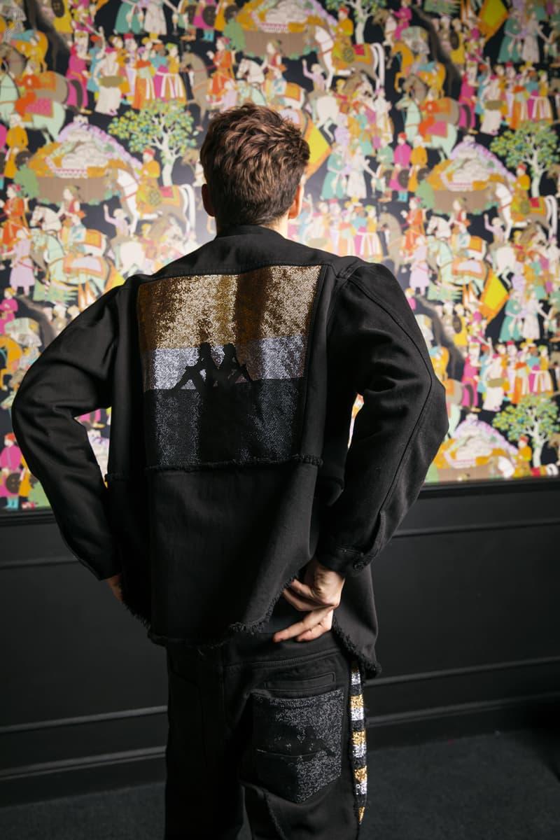 Danilo Paura Kappa Fall Winter 2018 Collection Lookbook sweater jacket t shirt jeans blazer branding logo Clothing