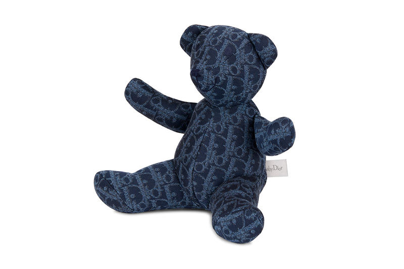 dior boy capsule collection kids children bear accessory logo print jacquard