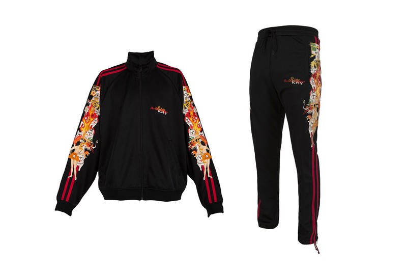 Doublet Chaos Embroidery Tracksuit Giveaway black jacket pants trouser