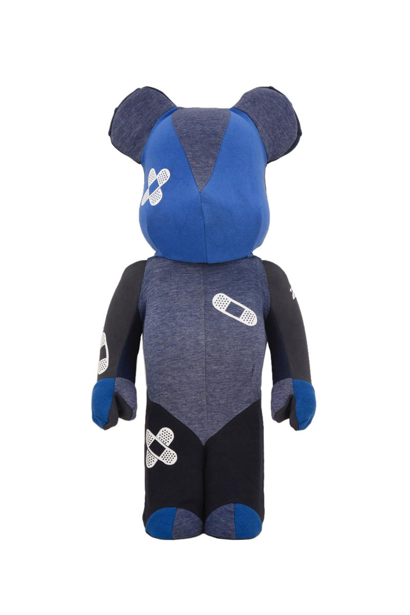 dr romanelli bearbrick medicom toy collaboration collection patchwork 1000 size usagi capsule jacket pullover outerwear shirt print december 29 2018 plus omotesando tokyo japan release date info buy 250,000 yen jaoan