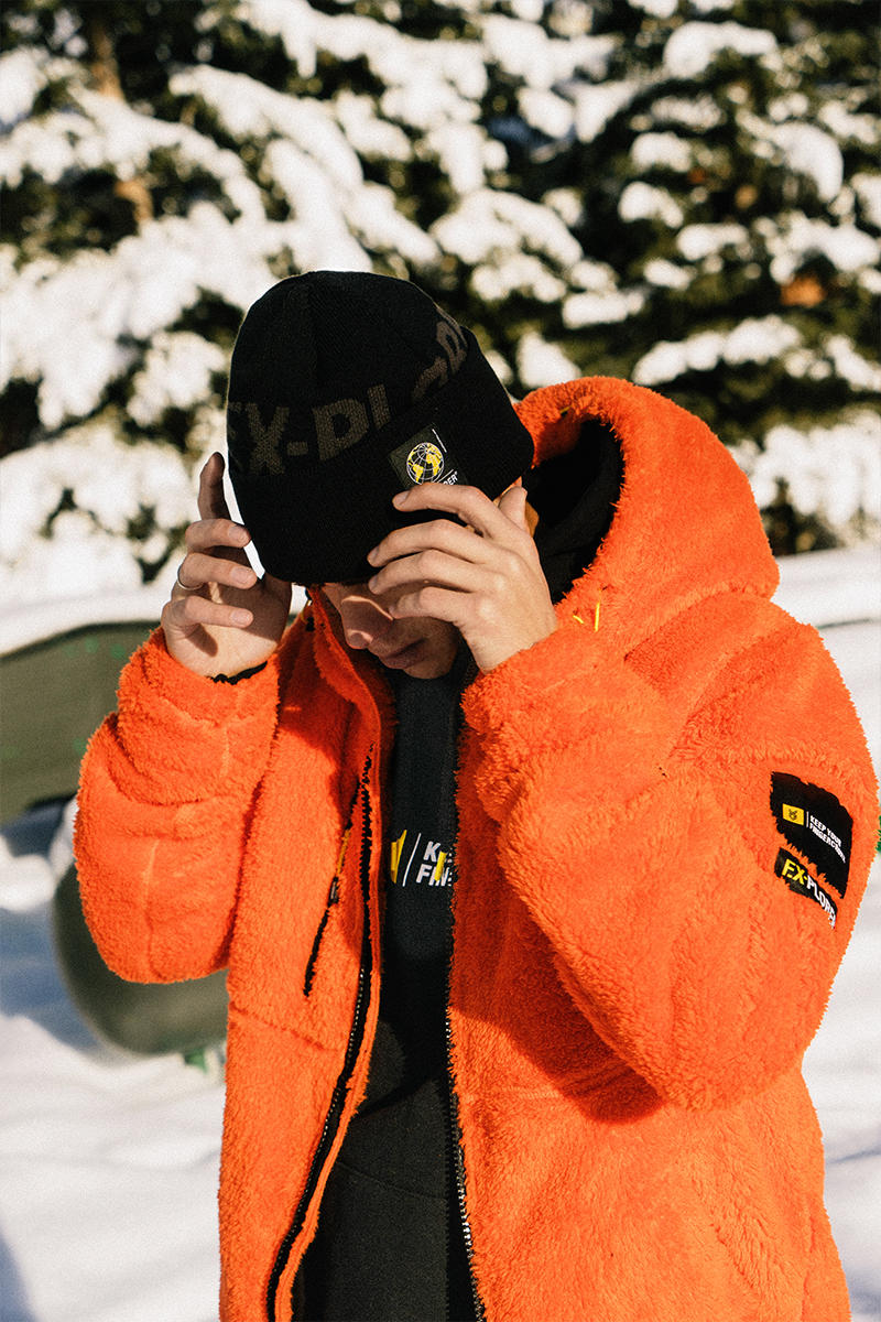 "fingercroxx ""F.X- Explorer"" Collection Lookbook winter 2018 snowboarding"