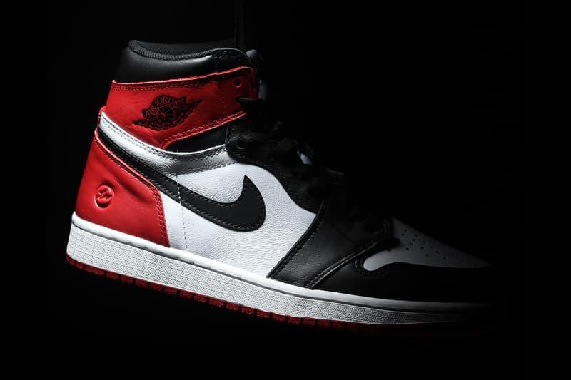 fragment design Air Jordan 1 Black Toe Sample red white Hiroshi Fujiwara 2019 Release info Date High OG