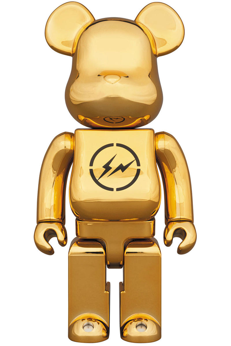 fragment design THE CONVENI BE@RBRICK Figures medicom toy january 1 2019 hiroshi fujiwara collaboration black gold
