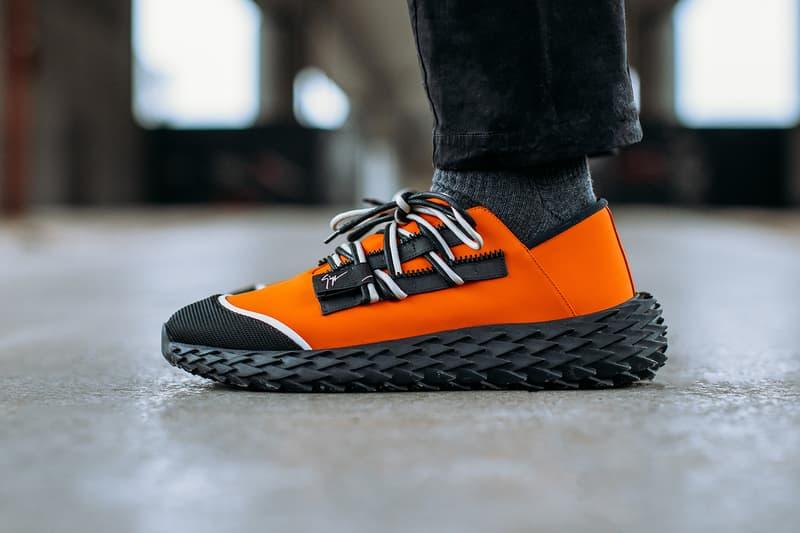 Giuseppe Zanotti Urchin Sneaker Release 2018 Vivid Orange