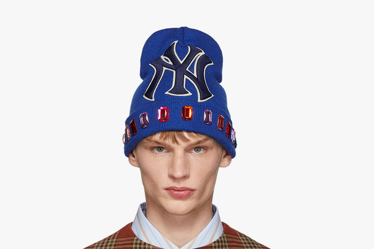 872988793c8 Gucci Releases a Jewel-Encrusted NY Yankees Beanie