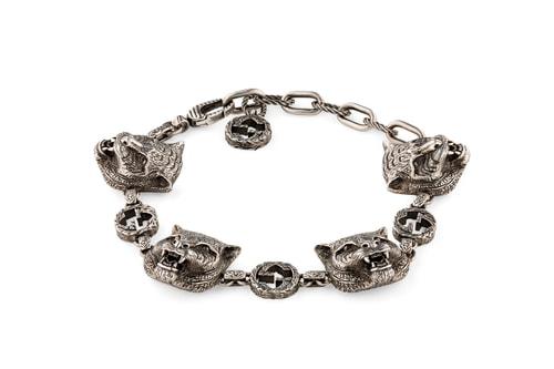 Gucci Adds Its Feline Head Motif on Newest Sterling Silver Bracelet