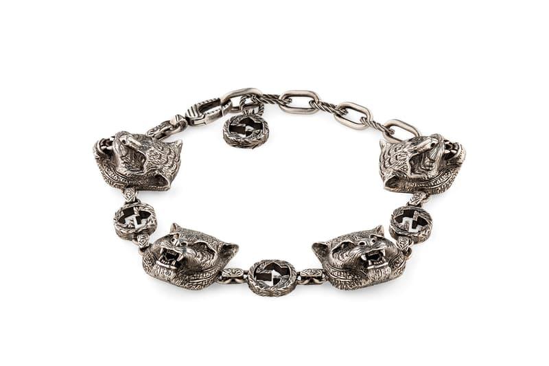 Gucci Garden Feline Head Sterling Silver Bracelet