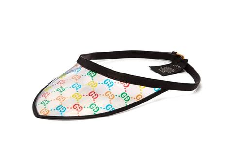 Gucci Releases a Multicolor GG Print Leather Visor