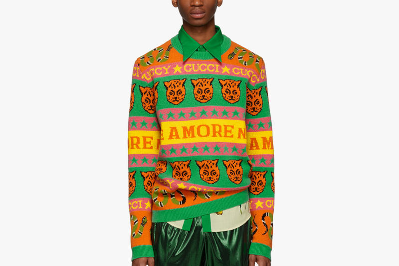 Gucci Drops Graphic Knit Sweaters for the Holidays