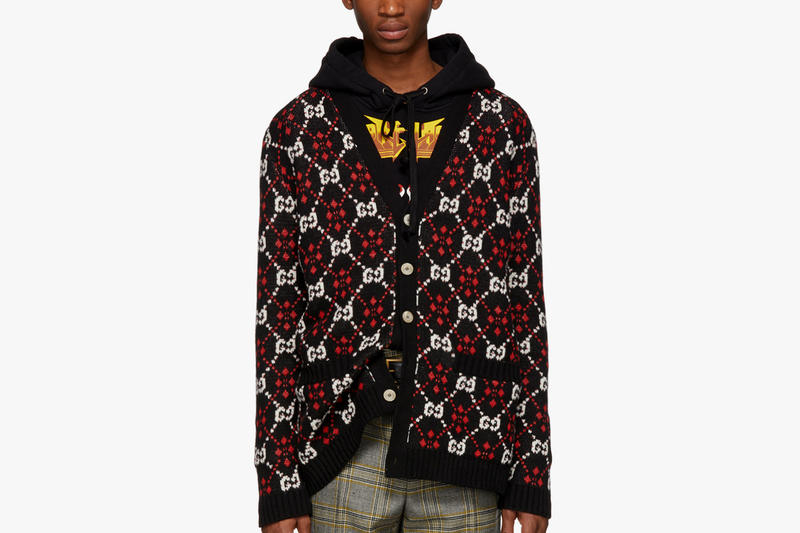 Gucci Knit Sweaters wool cardigan knitwear christmas Fall/Winter 2018 Release available now price fw18 jacquard GG print menswear fashion SSENSE