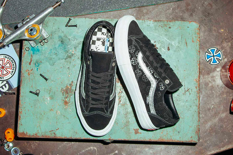 Independent Vans Style 36 Pro Release Date collab december 2018 black white silver sneaker 40 anniversary