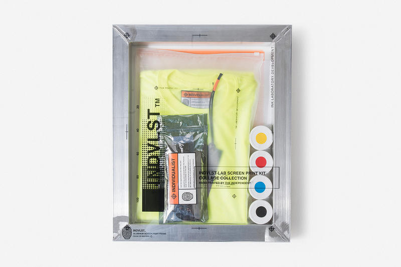 INDVLST LAB Screen Print Activation Kit Volume 1 One Release Virgil Abloh Neon Info Date
