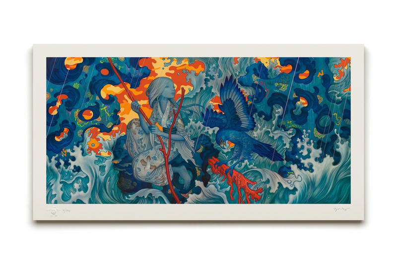 james jean adrift print giveaway artwork art artist hypebeast advent calendar giveaway artist proof