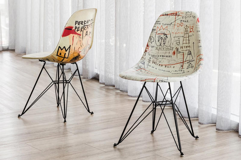 jean michel basquiat modernica case study side shell eiffel chair advent calendar giveaway