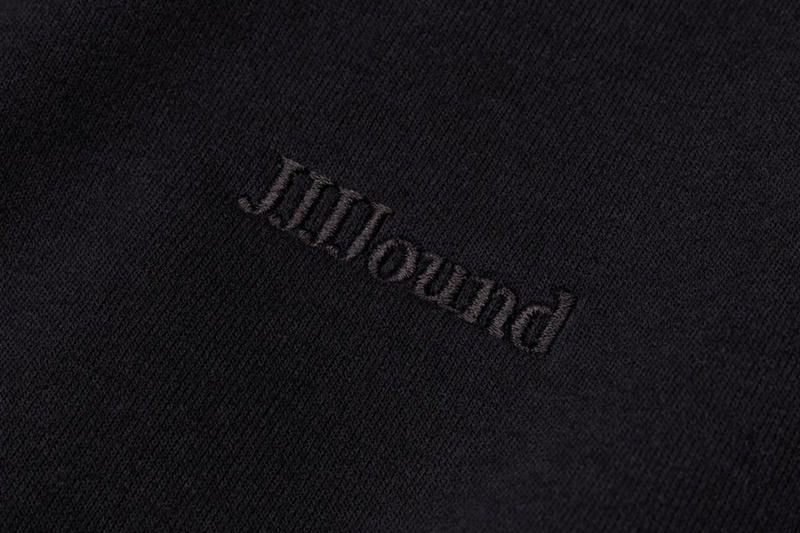 JJJJound J/95 black Hoodie Release logo white embroidery price restock justin saunders purchase online resell limited edition apparel men's size
