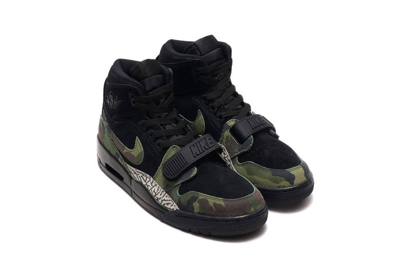 a4c43927ef3b Jordan Legacy 312 Black Camo Elephant Print drop release info date december  28 2018 colorway