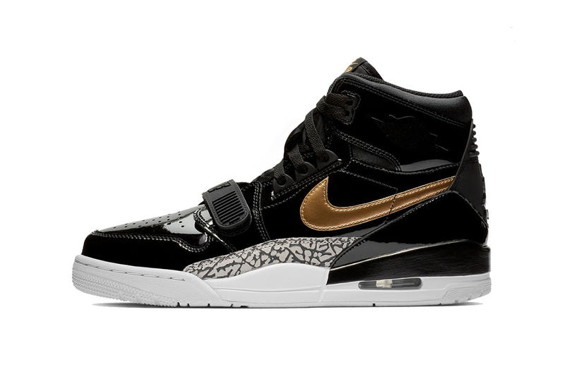 ba112cdf534f jordan legacy 312 black gold patent leather don c footwear jordan brand  2018 december AV3922-