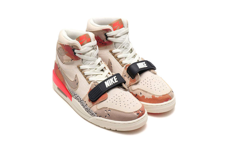 reputable site 0722f e45e3 Don C jordan legacy 312 colorway collab sneaker desert camo sail infrared  release date info AV3922