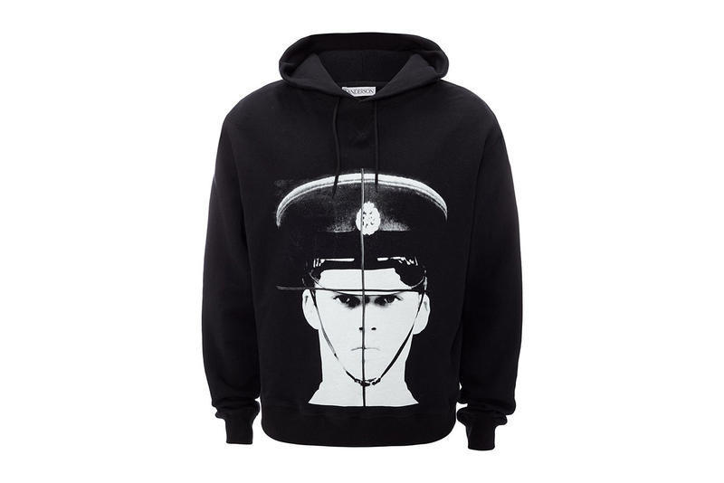 gilbert george jw anderson hoodie black police officer guard plants photograph giveaway collaboration