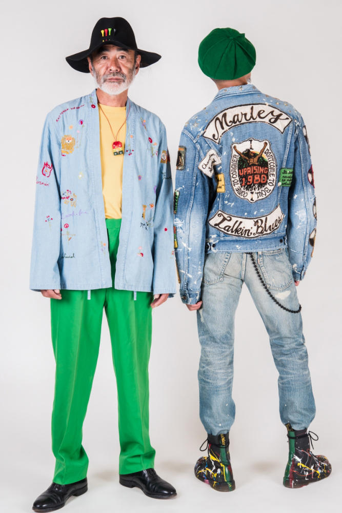 KAPITAL Bob Marley spring summer 2019 Collection denim kountry print jamaica reggae blue japan