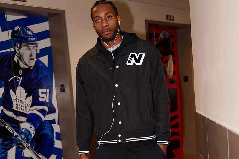 e02da33cd194bd Kawhi Leonard Steps out in New Balance Sneakers toronto raptors jordan nike  jordan brand