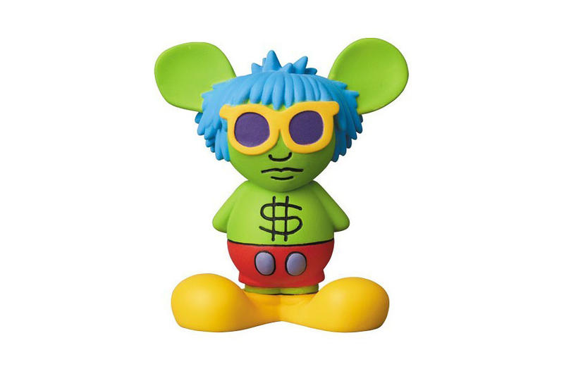 keith haring medicom toy figure collectible barking dog three eyed face radiant baby andy mouse flying devil release date buy
