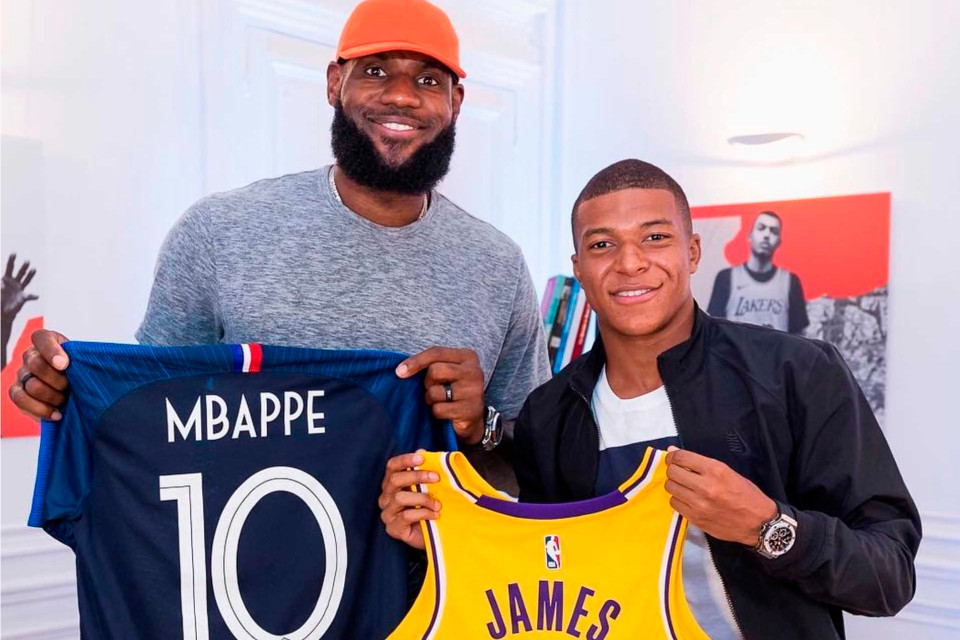 """sports shoes 8cdf8 f2b00 LeBron James   Kylian Mbappé Discuss Being Sports Icons and Their Humble  Beginnings. """""""