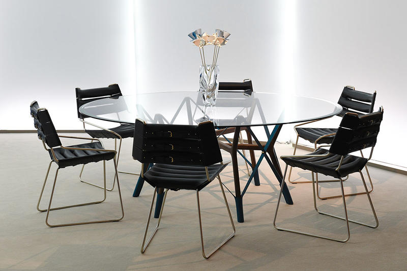 Louis Vuitton Objets Nomades design miami New Designs December 2019 furniture interior design home decor table chair price purchase luxury Atelier Biagetti's Anemona Table, Atelier's Oï's Serpentine Table, and Tokujin Yoshioka's Blossom Vase,
