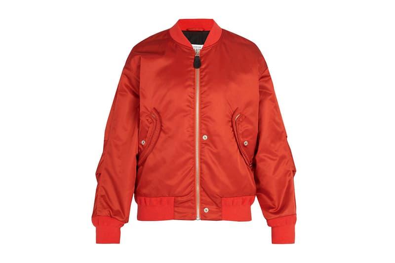 maison margiela satin bomber jacket martin matchesfashion.com rust orange exclusive ma-1