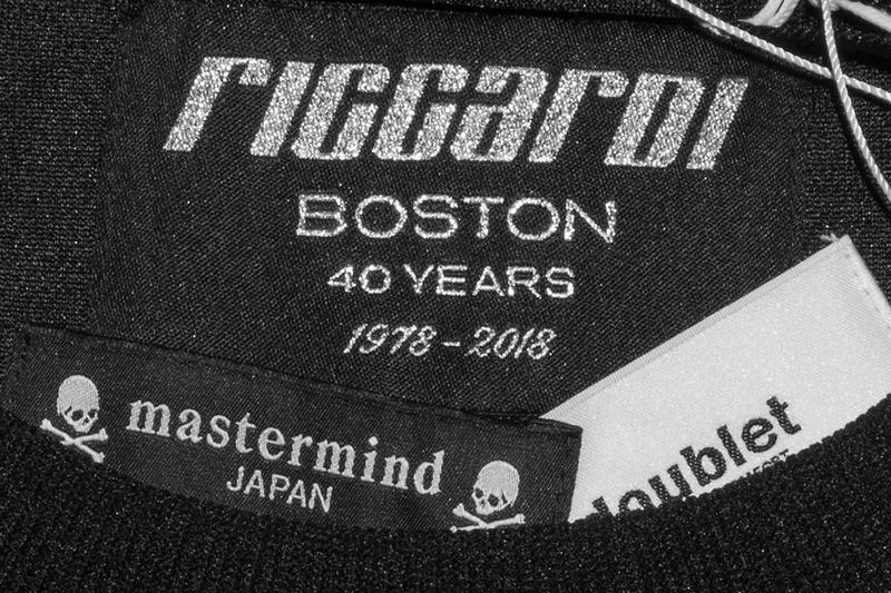 mastermind JAPAN Doublet Riccardi 40th Anniversary Collab Black Chaos Embroidery Track Jacket Pants Sweater