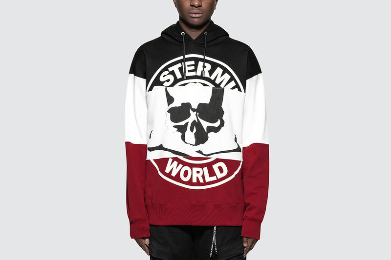 mastermind WORLD striped hoodie red white black skull loogie pullover sweater fall winter 2018