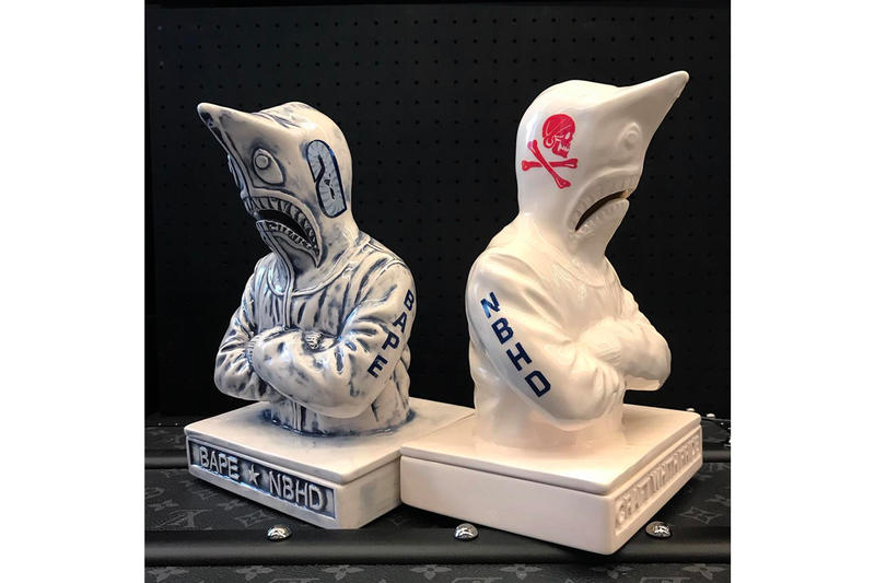 BAPE's Shark Hoodie Inspires NEIGHBORHOOD's New Incense Chamber a bathing ape design art