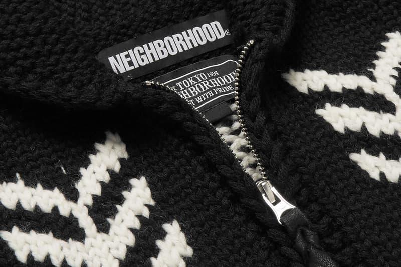Neighborhood Intarsia Wool Zip-Up Cardigan Cowichan sweaters Canada British Columbia BC Shin Takizawa native traditional shawl collar