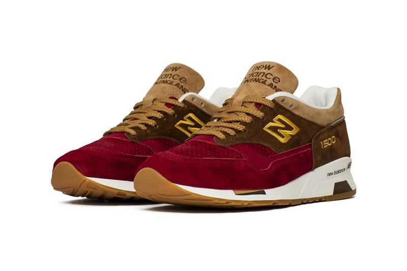 "New Balance 1500 ""Holiday"" Pack Release Date Metallic silver suede crimson tan brown colorway sneaker purchase online available now size december 2018"