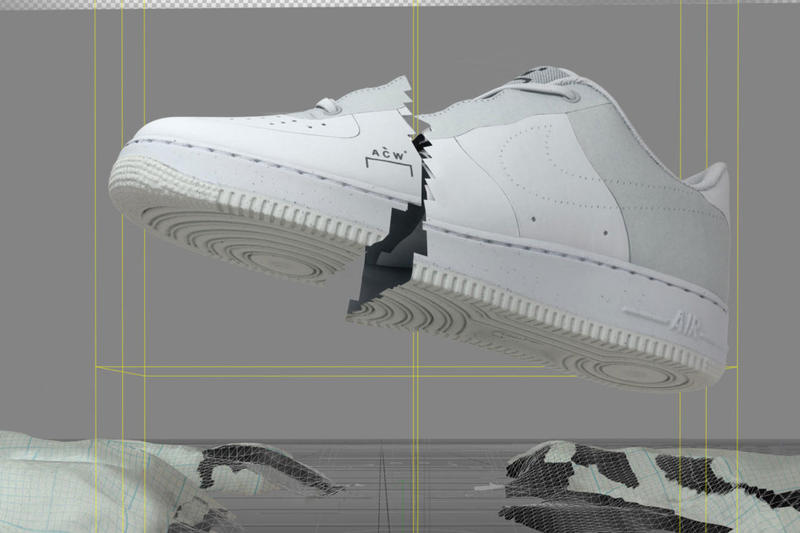 new product 59e01 2f8b5 A-COLD-WALL x Nike Air Force 1 Low Official Look Shoes Trainers
