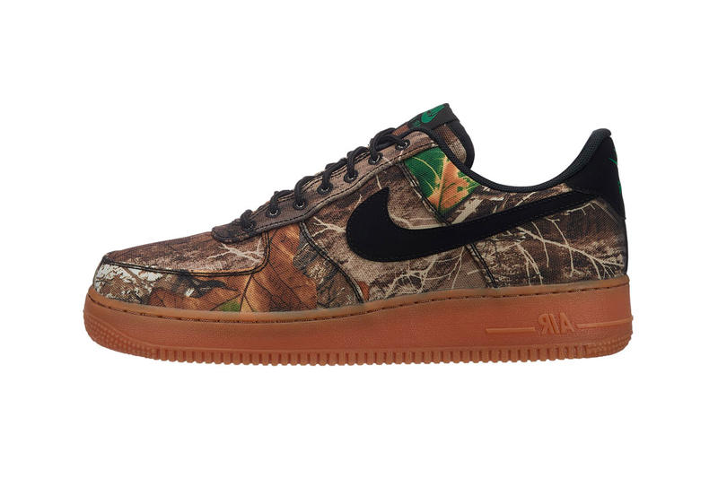 Realtree Camo Nike Air Force 1 2019 Release info Date Low Brown White  January Green 4d831decc199
