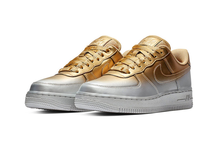 c7d8a4a22f2f Nike s Air Force 1 Low Stands Out in Silver and Gold