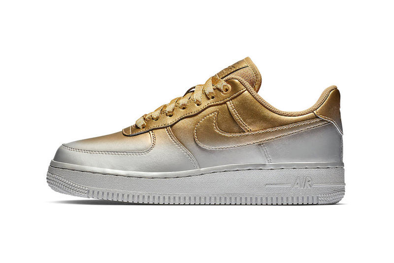 Nike Air Force 1 Low Silver and Gold