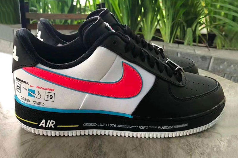 Nike Air Force 1 Racing Release Info Date Black White Branding pink blue